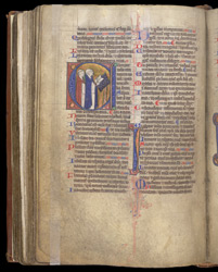 Historiated Initial With Monks Chanting, In The Coldingham Breviary